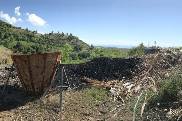 Charcoal production causing deforestation in the Jacmel area