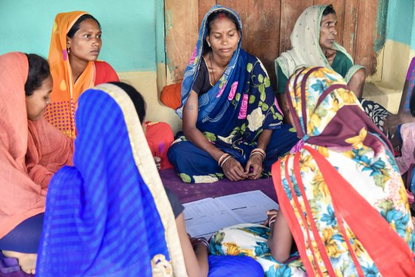 Women's support group in Chhattisgarh, Central India. Photo: Els Remijn, IKEA Foundation.