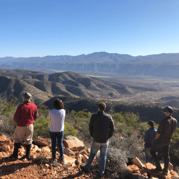 Looking out over the Baviaanskloof natural zone
