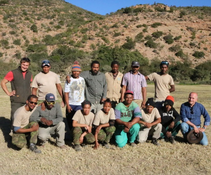 The Baviaankloof rehabilitation team and our CEO Willem Ferwerda